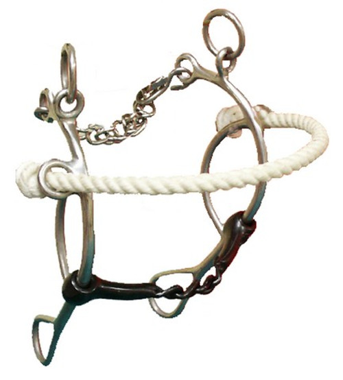 Rope Nose gag Bit with Twisted Center Mouth