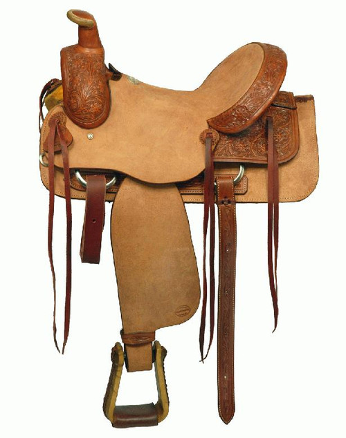 "16"" Blue River Roping Saddle with Hardseat"