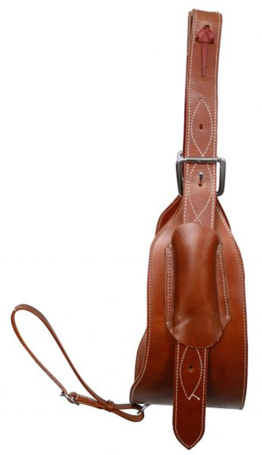 "Showman™  Heavy Duty 7"" Wide Leather Back Cinch"