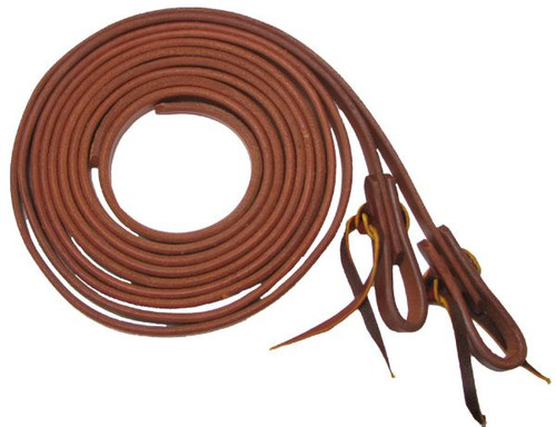 """Showman™ 3/4"""" X 8' Oiled Harness Leather Split Reins"""