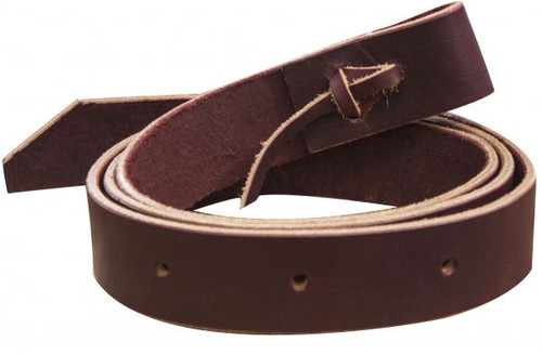 Showman™ 6' Burgundy Leather Latigo Tie Strap with Punched Holes **Made in USA**
