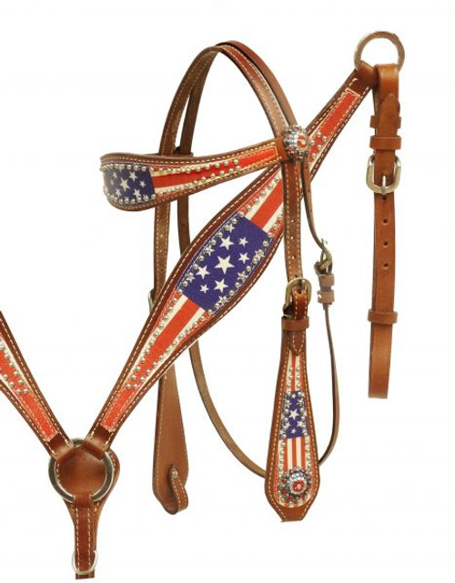 Showman® American Patriot headstall and breast collar set.