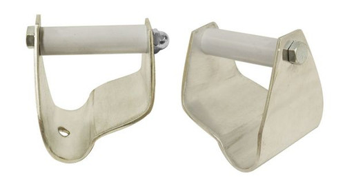 """Showman® 2.5"""" Polished aluminum stirrup correctors. Sold in pairs."""