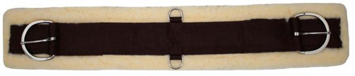 """Showman™  maize fleece super 30"""" girth. Comes complete with flat stainless steel hardware. Sizes 28-36."""