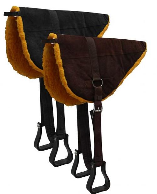 Showman™ Suede Leather Bareback Pad with Kodel Fleece Bottom.