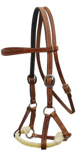 Showman ® Argentina cow leather side pull.