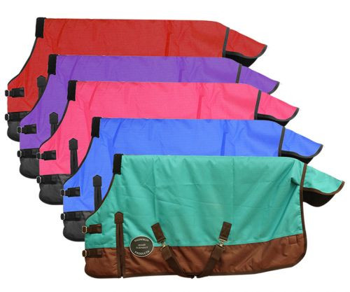 """FOAL/MINI SIZE 36""""-40"""" Waterproof and Breathable Showman™ 1200 Denier Turnout Blanket."""