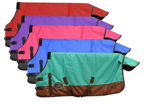 """FOAL/MINI SIZE 42""""-46"""" Waterproof and Breathable Showman™ 1200 Denier Turnout Blanket."""