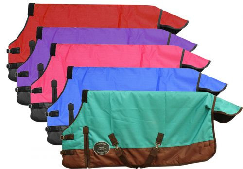 """PONY/YEARLING 56""""-62"""" Waterproof and Breathable Showman™ 1200 Denier Turnout Blanket."""