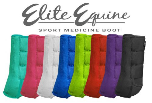 Showman® Elite Equine Sport Medicine Boot.  Sold in pairs.