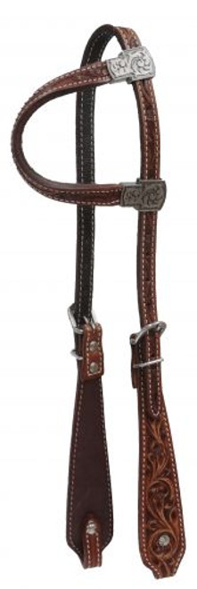 Showman® Argentina cow leather single ear headstall.