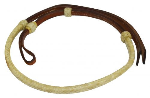 Showman ® 4 ft rawhide braided leather Over & Under whip.