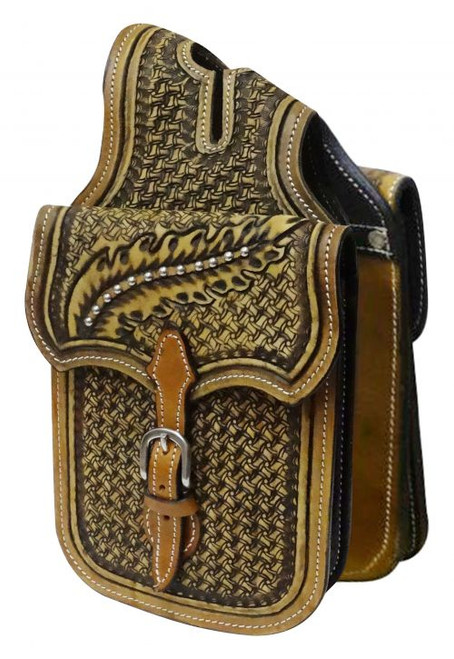 Showman ® Tooled leather horn bag