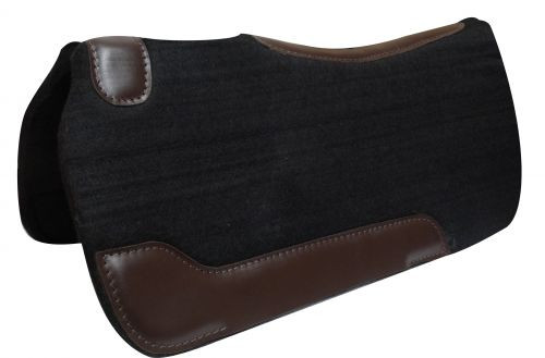 "Showman ® PONY 24"" x 24"" Black felt pad."