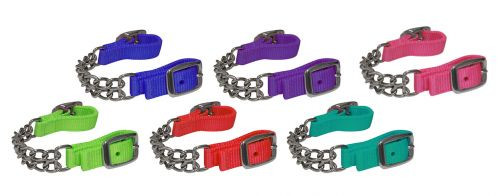 """Showman ® Fully adjustable end double chain nylon curb chain. Adjusts 10"""" to 11.5""""."""