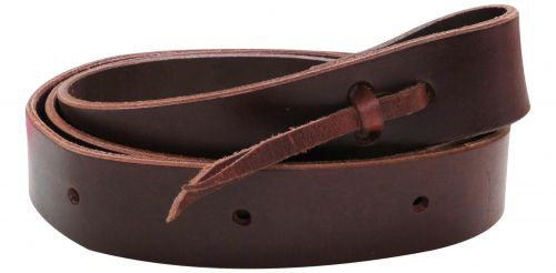 """1.5"""" x 60"""" leather latigo tie strap with punched holes."""