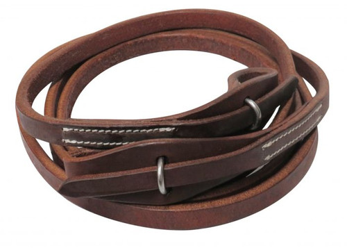 Showman ® 8ft Oiled harness leather quick change roping reins.