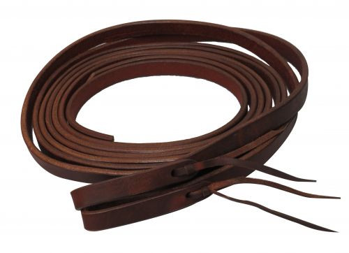 """Showman ® 8ft X 5/8"""" Oiled harness leather split reins. Made in America."""
