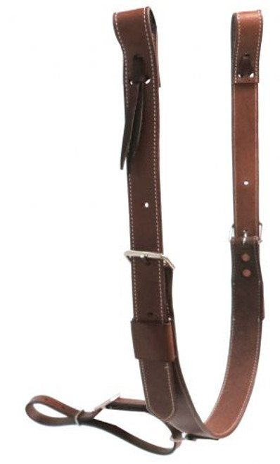 "Showman ® PONY 1.75"" wide leather back cinch with roller buckles."