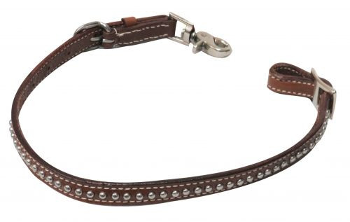 Showman ® PONY  Studded leather wither strap with scissor snap end.