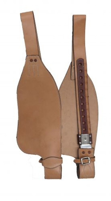 Showman® PONY/YOUTH Smooth leather replacement fenders.