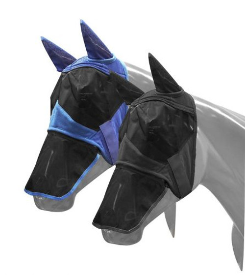 Showman ® Teddy fleece flymask with detachable nose.