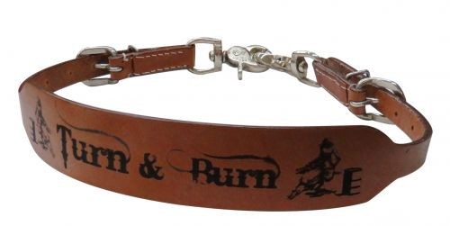 "Showman ® "" Turn & Burn"" wither strap."