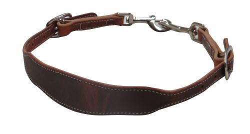 American made oiled harness leather wither strap with swivel snap ends. Made in the U.S.A.