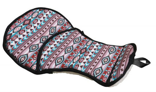 Showman ® Navajo print seat saver with fleece bottom.