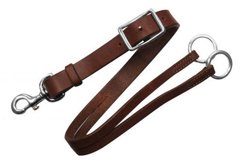 Showman® Training fork made of American oiled harness leather.