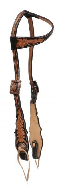 Showman ® Argentina cow leather single ear headstall..