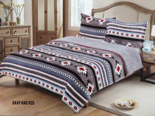 Queen Size 3 pc Borrego comforter set with southwest design.