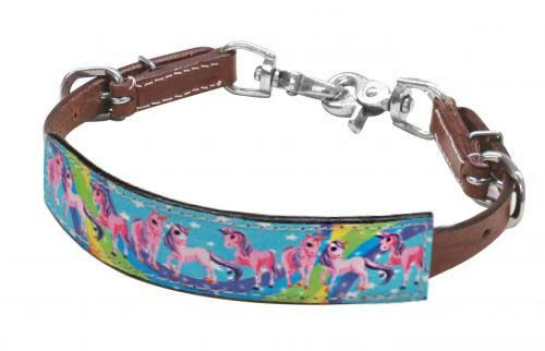 "Showman ® PONY SIZE  "" Rainbow Pony"" wither strap."