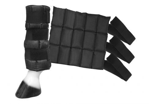 """Showman ® 14"""" x 13"""" Cold Therapy Ice Boots."""