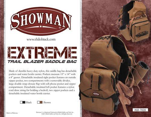 Showman ®  Extreme Trail Blazer Saddle Bag.