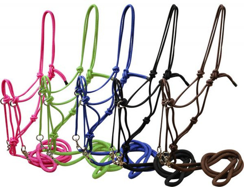 Showman™ nylon rope bitless bridle.