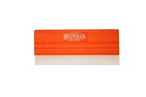 Showman ® standard size wooden squeegee with rubber blade.