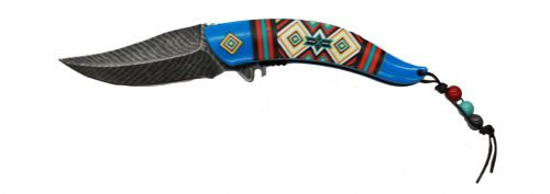 Master Collection southwest feather spring assisted knife.