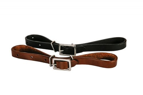 Showman ® Fully adjustable all leather oiled curb strap.