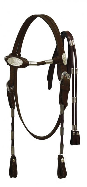 Cobb size Poco headstall with reins.