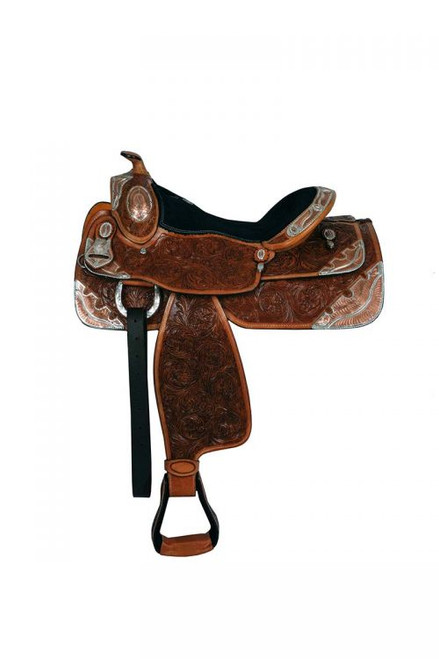 "16"" Double T fully tooled show saddle"