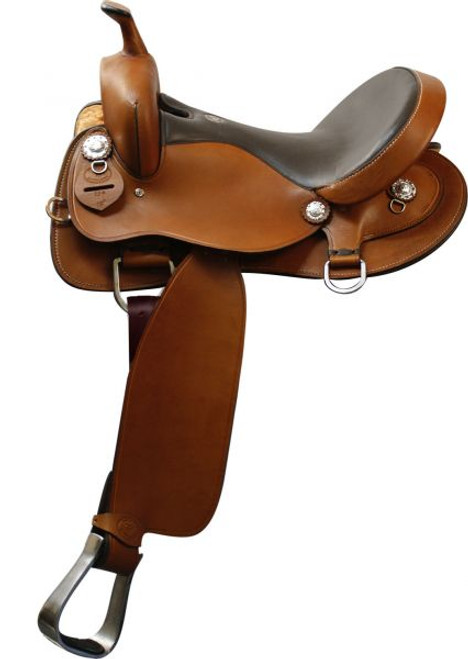 "16"" Double T Trail Saddle. Smooth finish Argentina Cow Leather"