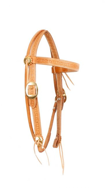 Showman ® Argentina cow leather browband headstall..