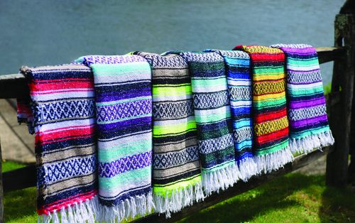Mexican style sarape blankets.