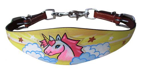 Showman ® PONY SIZE  Unicorn print wither strap
