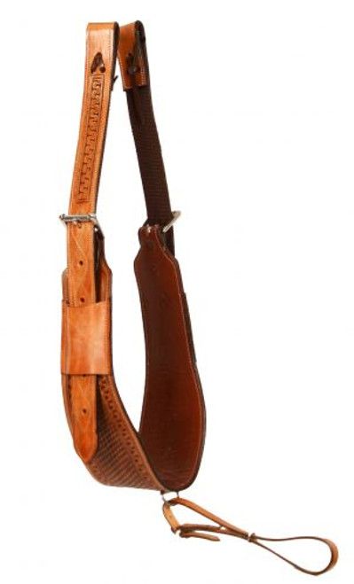 "Showman ® heavy duty 5"" leather backrigging."
