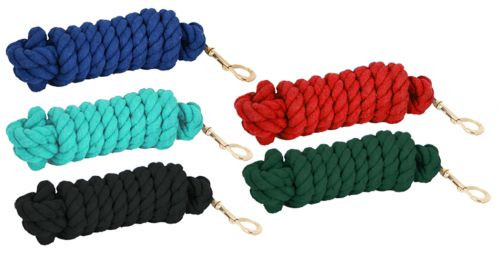 10' Cotton Lead Rope with brass snap.