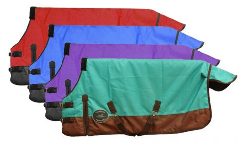 """PONY/YEARLING 42""""-46"""" Waterproof and Breathable Showman™ 1200 Denier Turnout Sheet."""