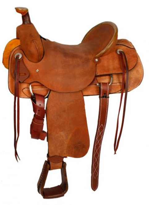 "15"", 16"", 17""  Showman™ Hard Seat Roping Saddle."