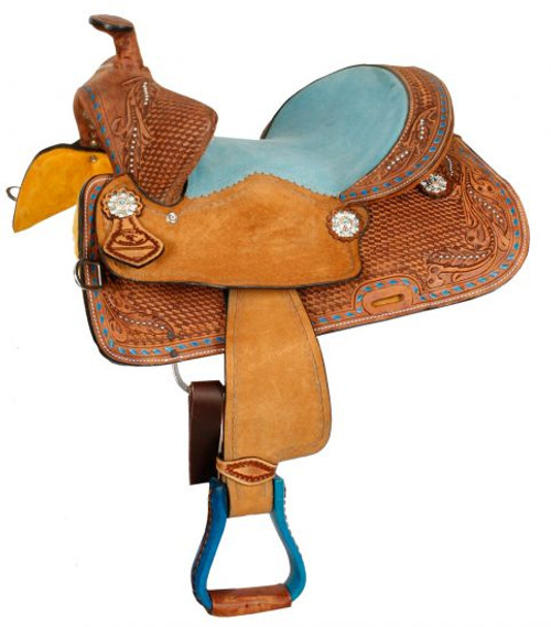 "12"", 13"" Double T  Youth Bear Trap style saddle."
